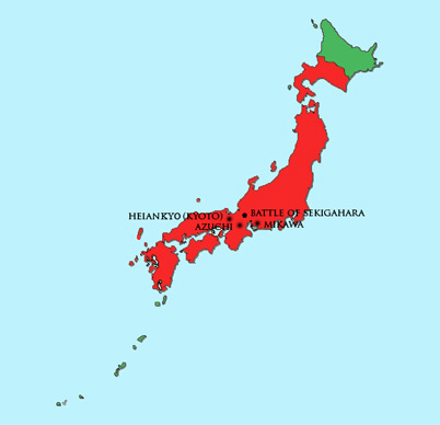 Japan Module | Map | Azuchi-Momoyama Period (1568 – 1600)